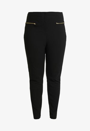 TWO ZIP BENGALINE TROUSER - Trousers - black