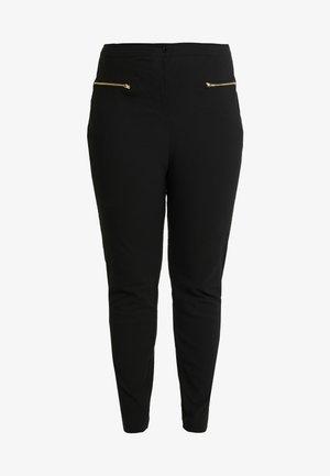 TWO ZIP BENGALINE TROUSER - Kalhoty - black