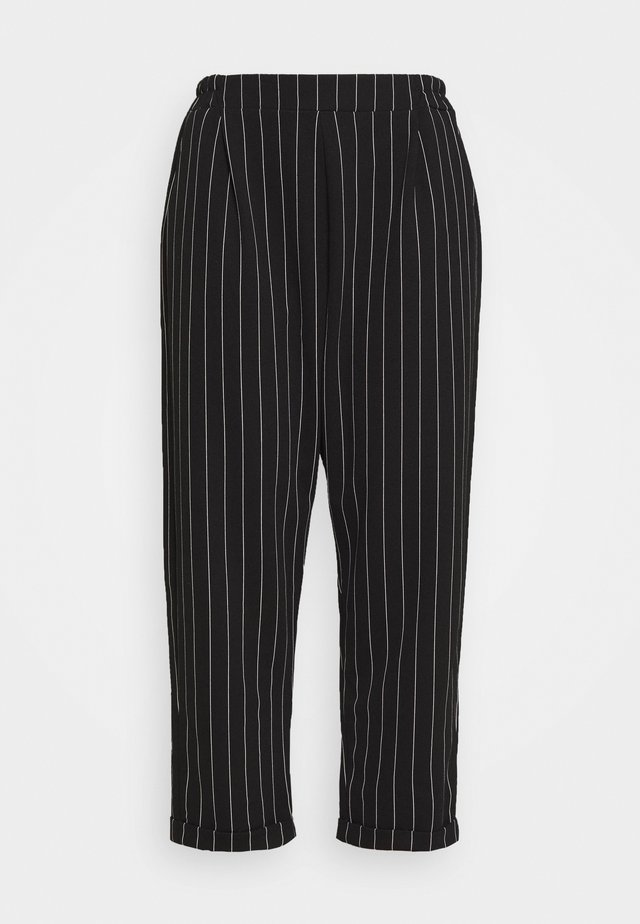 PINSTRIPE TROUSER - Trousers - black