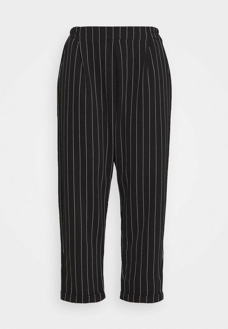New Look Curves - PINSTRIPE TROUSER - Bukse - black