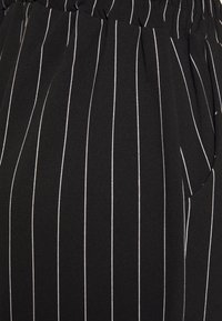 New Look Curves - PINSTRIPE TROUSER - Trousers - black - 2