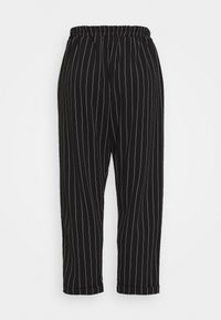 New Look Curves - PINSTRIPE TROUSER - Trousers - black - 1
