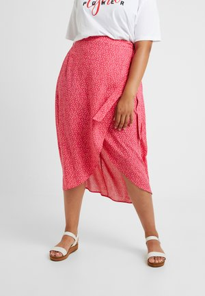 BLOCK SKIRTS - Jupe portefeuille - pink