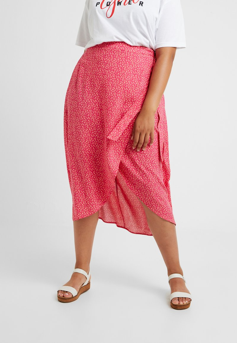 New Look Curves - BLOCK SKIRTS - Wikkelrok - pink