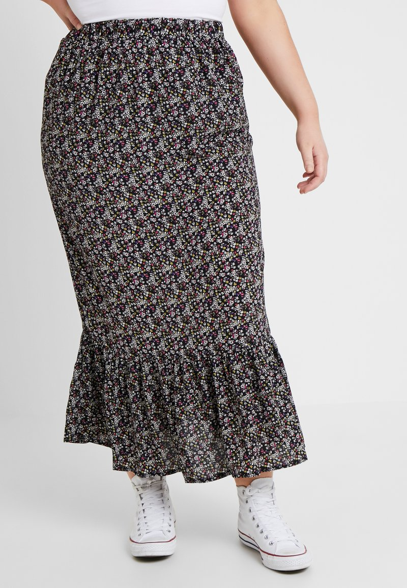 New Look Curves - ORLA DITSY MAXI SKIRT - A-Linien-Rock - multi