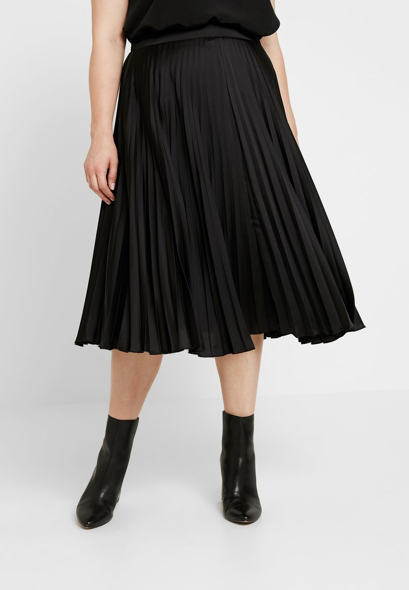 New Look Curves - PLEAT MIDI - Áčková sukně - black