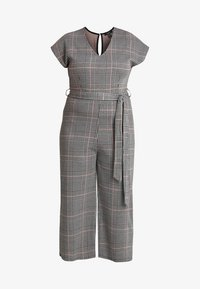 New Look Curves - FRANK CHECK SELF BELTED - Overal - black - 3