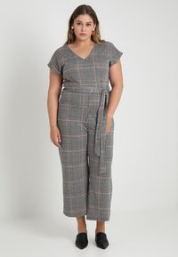 New Look Curves - FRANK CHECK SELF BELTED - Overal - black - 0