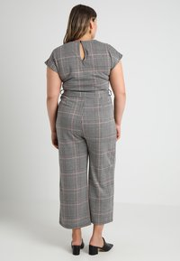 New Look Curves - FRANK CHECK SELF BELTED - Overal - black - 2