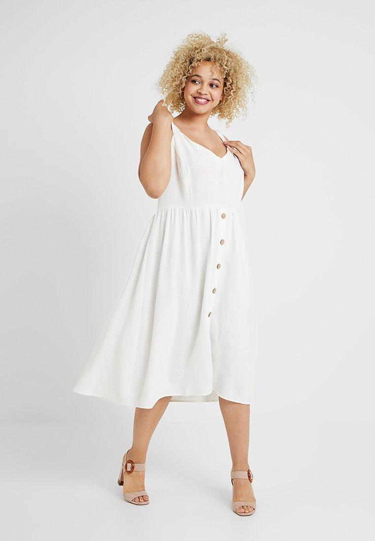 New Look Curves - STRAPPY DRESS - Hverdagskjoler - whte
