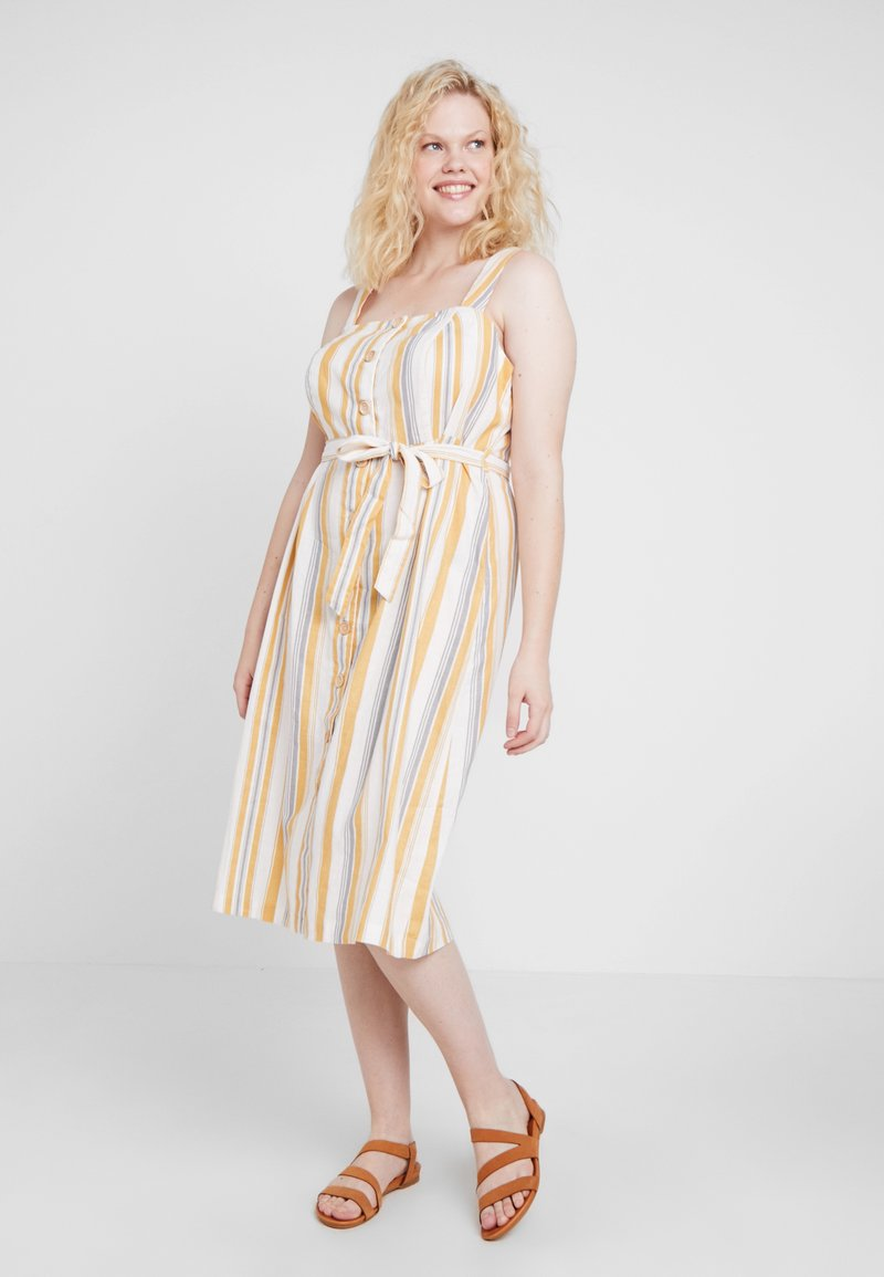 New Look Curves - STRAPPY DRESS - Skjortekjole - offwhite