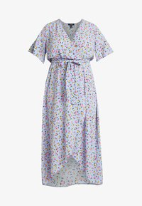 New Look Curves - GO HI LOW RENATA PRINT DRESS - Vestito lungo - blue - 3