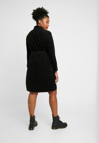 New Look Curves - BELTED DRESS - Shirt dress - black - 3
