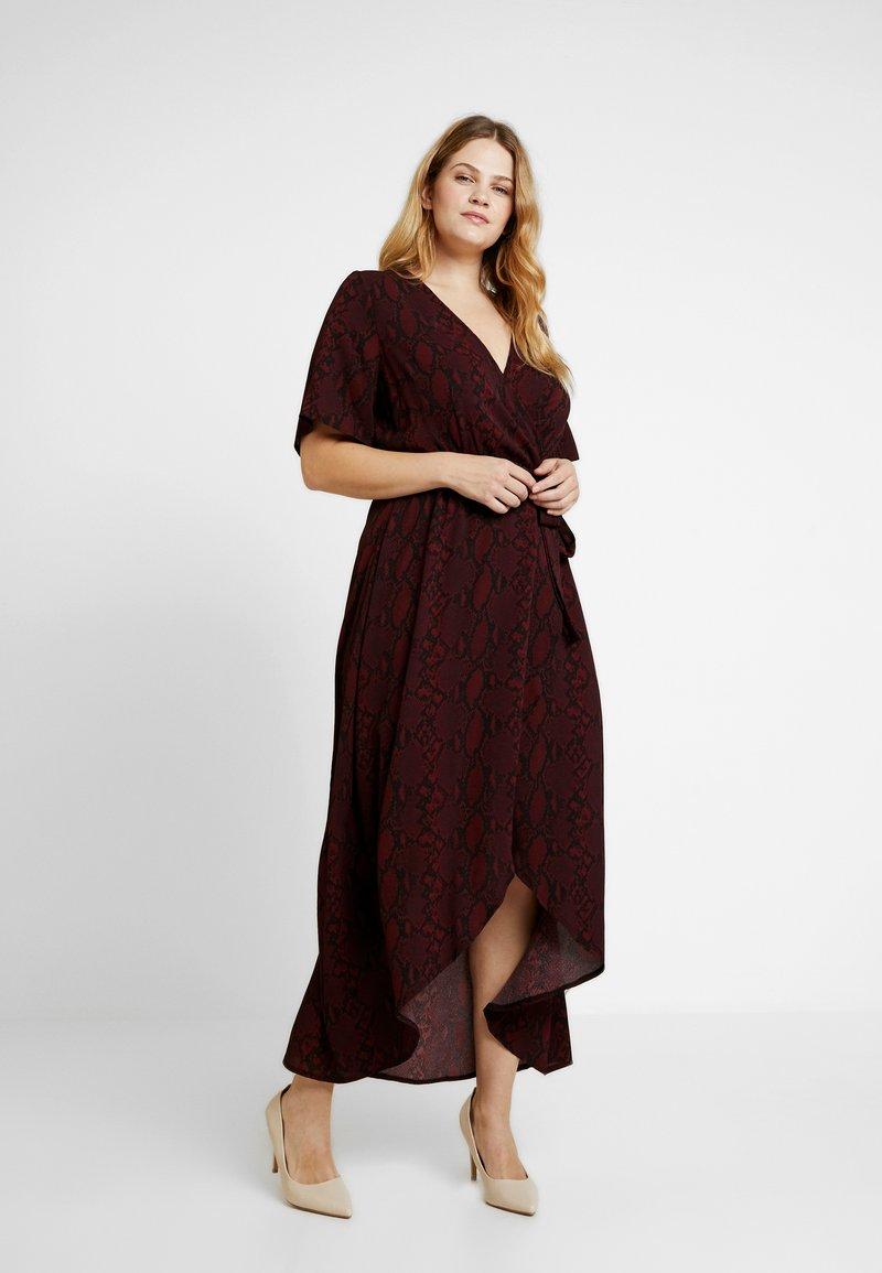 New Look Curves - SAMANTHA HIGH LOW DRESS - Freizeitkleid - dark burgundy
