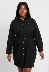 New Look Curves - CALLY - Robe en jean - black - 0