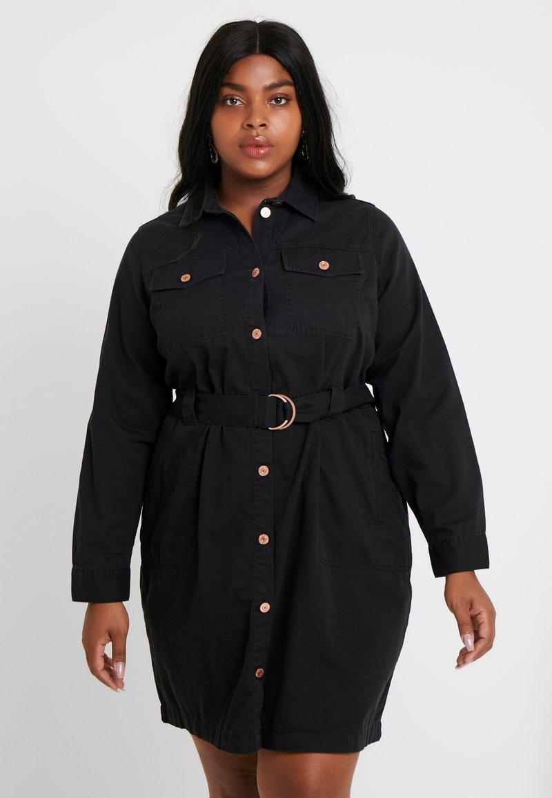 New Look Curves - CALLY - Vestido vaquero - black