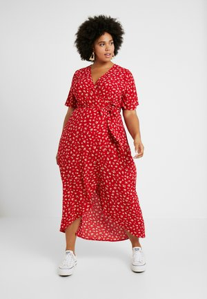 NELLE FLORAL HIGH LOW - Maxi šaty - red