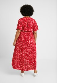 New Look Curves - NELLE FLORAL HIGH LOW - Vestito lungo - red - 3