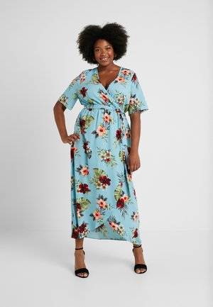 MALIBU HI LOW DRESS - Vestito lungo - blue pattern