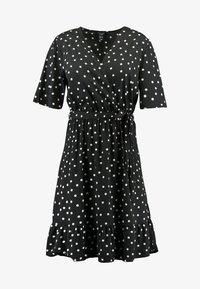 New Look Curves - SHARON SPOT TIERED DRESS - Day dress - black pattern - 4