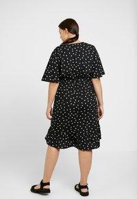 New Look Curves - SHARON SPOT TIERED DRESS - Day dress - black pattern - 2