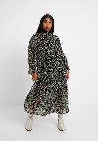 New Look Curves - LOUISA PIECRUST TIERED DRESS - Maxikjole - black - 0