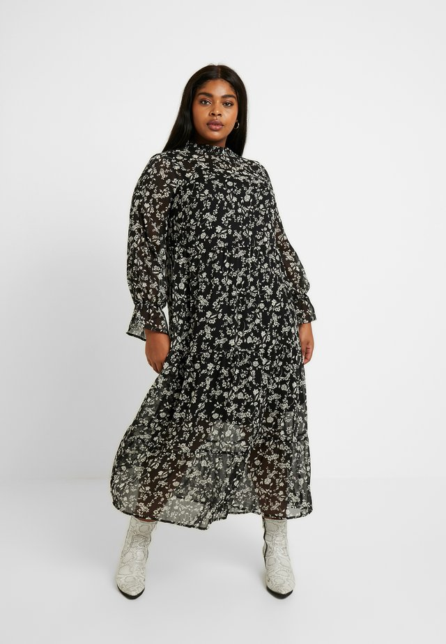 LOUISA PIECRUST TIERED DRESS - Maxikjoler - black