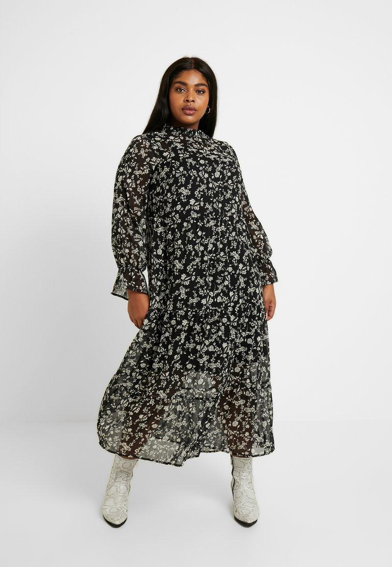 New Look Curves - LOUISA PIECRUST TIERED DRESS - Maxikjole - black