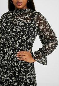 New Look Curves - LOUISA PIECRUST TIERED DRESS - Maxikjole - black - 5