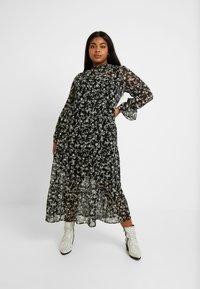 New Look Curves - LOUISA PIECRUST TIERED DRESS - Maxikjole - black - 2