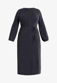 New Look Curves - METALLIC YARN DRESS - Jerseykjole - silver - 5