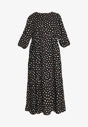 X NELLY TIERED DRESS - Maxi-jurk - black
