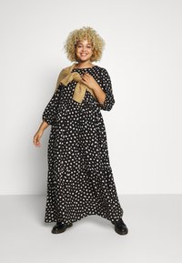 New Look Curves - X NELLY TIERED DRESS - Maxikjole - black - 1