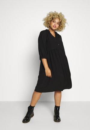 SMOCK DRESS - Skjortekjole - black