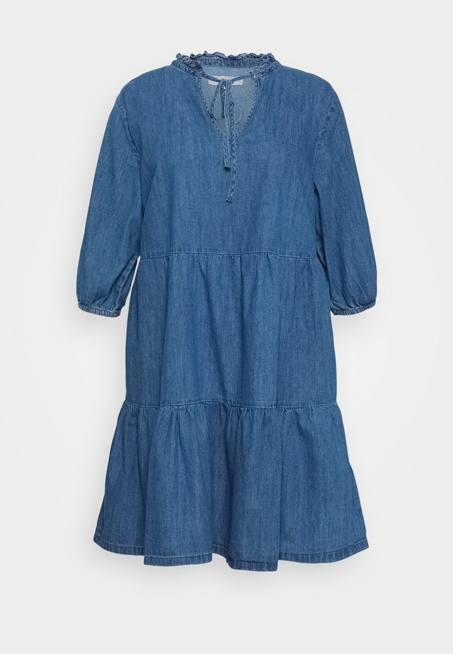 TIER MIDAXI - Denim dress - blue denim