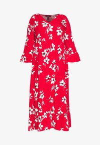 New Look Curves - X ULLA TIERED FRILL MAXI - Robe longue - red - 3
