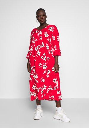 X ULLA TIERED FRILL MAXI - Maxi šaty - red