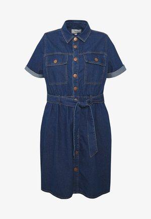 UTILITY DRESS - Vestito di jeans - indigo blue