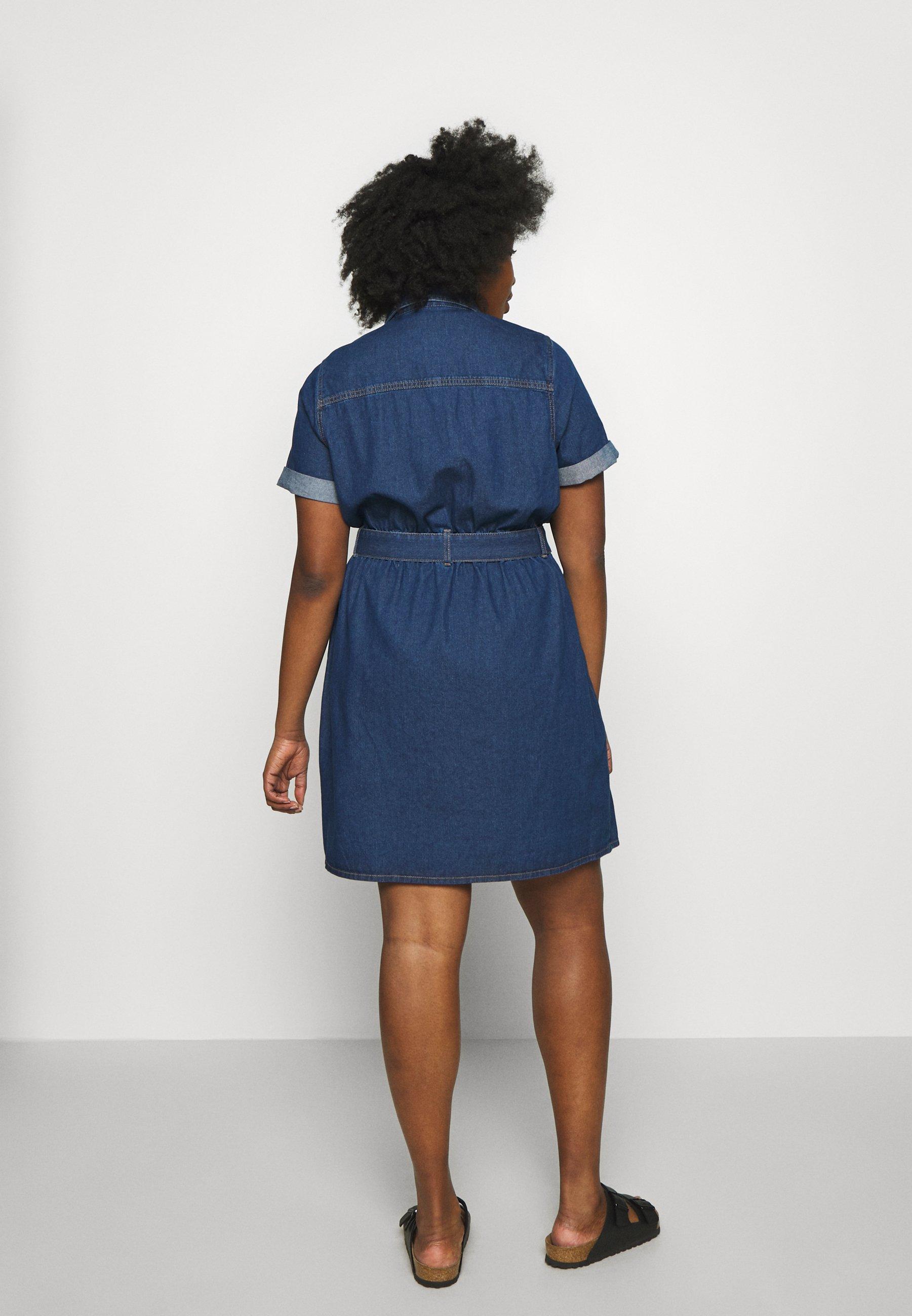 New Look Curves Utility Dress - Jeanskjole / Cowboykjoler Indigo Blue