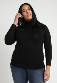 New Look Curves - ROLL NECK - T-shirt à manches longues - black - 0