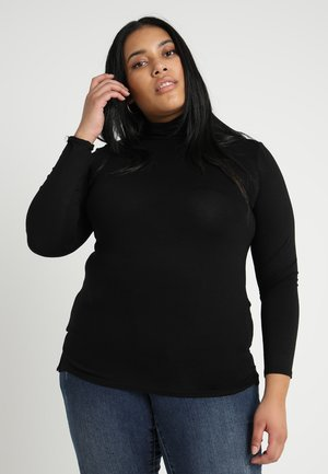 ROLL NECK - Long sleeved top - black