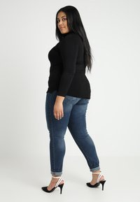 New Look Curves - ROLL NECK - T-shirt à manches longues - black - 2
