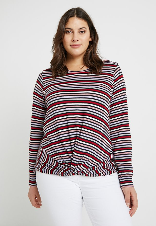 TWIST FRONT STRIPE - Jumper - black pattern