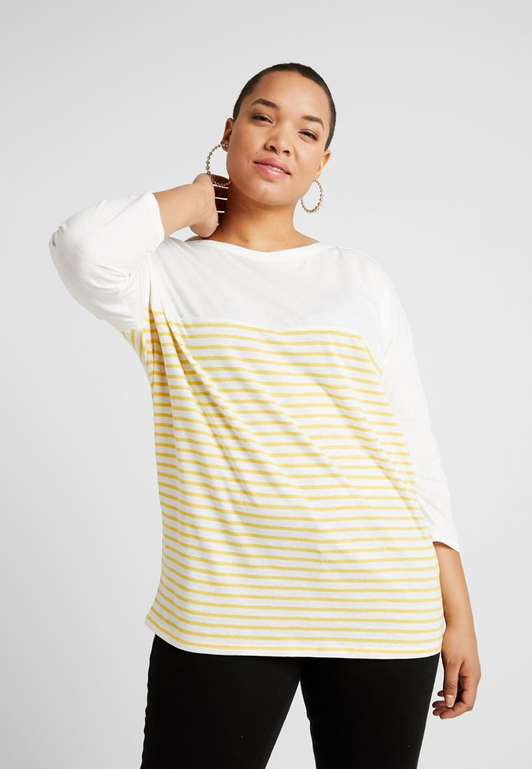 New Look Curves - STRIPE BRETON TEE  - Langærmede T-shirts - white pattern