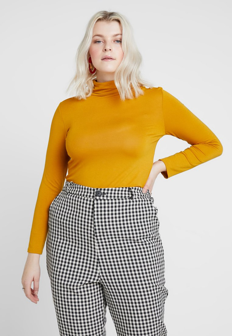 New Look Curves - SIDE SPLIT ROLL NECK - Long sleeved top - mustard