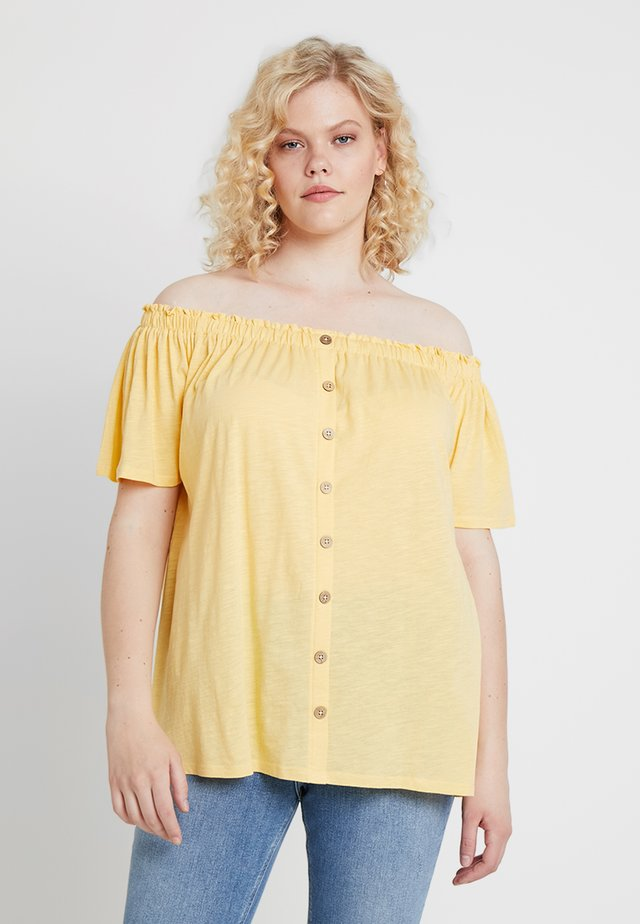 BUTTON THROUGH BARDOT - Blouse - corn yellow