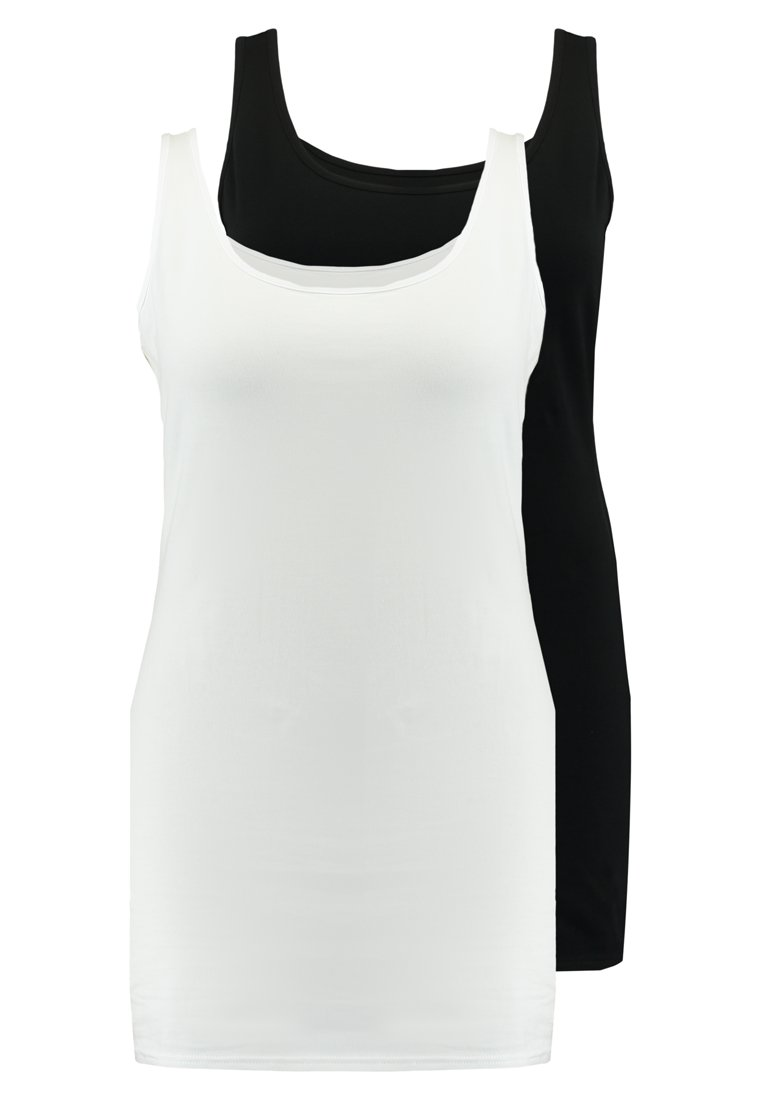 New Look Curves - NEW LONGLINE 2 PACK - Top - black/white