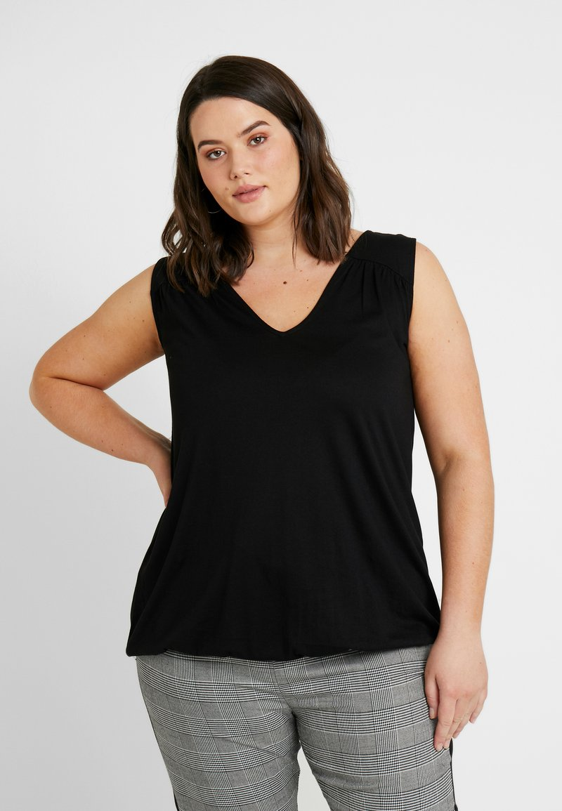 New Look Curves - HEM SLUB - Top - black