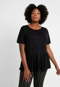 New Look Curves - PEPLUM HEM TEE 2 PACK - T-shirt imprimé - grey - 0