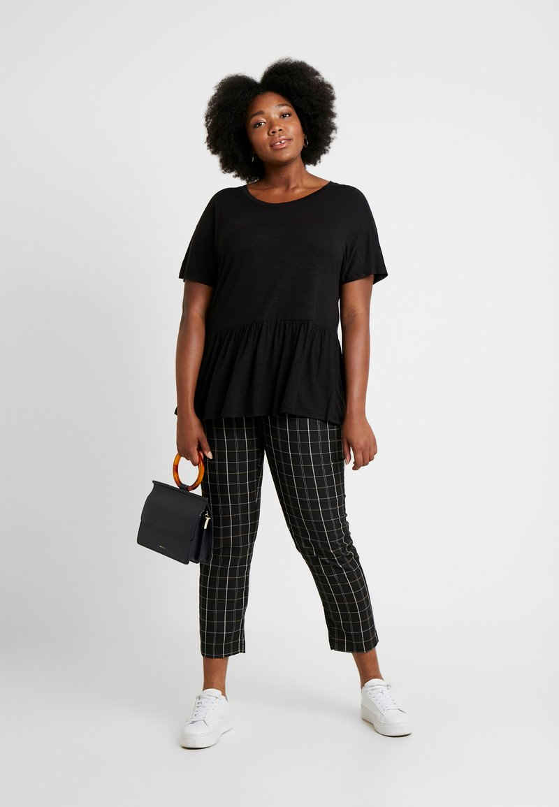 New Look Curves - PEPLUM HEM TEE 2 PACK - T-shirts print - grey